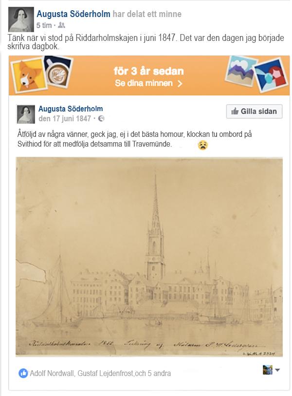 Urklipp från en fiktiv Facebooksida