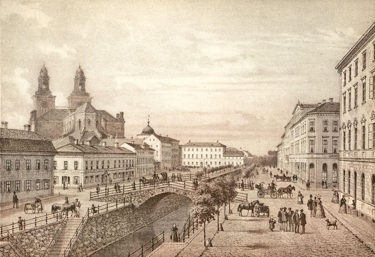 Studenternas Uppsala på 1840-talet