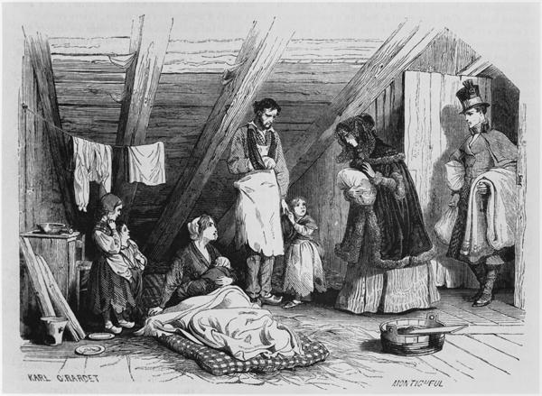 Julgåvor till de fattiga i Uppsala 1849
